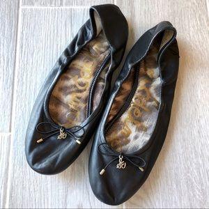 Sam Edelman Felicia black leather ballet flats